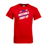Red T Shirt-Mustangs Pony Up