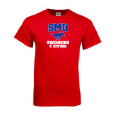 Red T Shirt-Swimming and Diving
