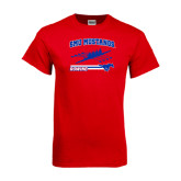 Red T Shirt-Rowing Design