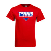 Red T Shirt-Tennis Design