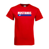 Red T Shirt-Mustangs Basketball Stacked Bar