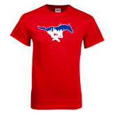Red T Shirt-Dallas Skyline Logo