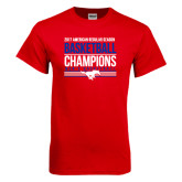 Red T Shirt-2017 AAC Regular Season Mens Basketball Champions Stacked