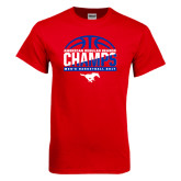 Red T Shirt-2017 AAC Regular Season Champs - Mens Basketball Half Ball