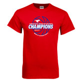 Red T Shirt-AAC Regular Season Champions 2017 Mens Basketball Lined Ball