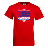 Red T Shirt-2017 AAC Regular Season Champions Repeating - Mens Basketball