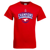 Red T Shirt-2017 AAC Conference Champions - Mens Basketball Arched Banner