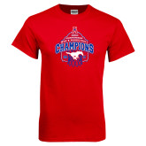 Red T Shirt-2017 AAC Conference Champions - Mens Basketball Arched Net