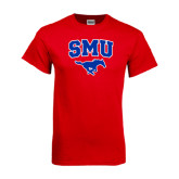 Red T Shirt-SMU w/Mustang