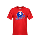 Youth Red T Shirt-Player on Basketball Design