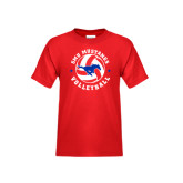 Youth Red T Shirt-Mustang on Volleyball