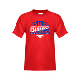 Youth Red T Shirt-2017 AAC Regular Season Champs - Mens Basketball Half Ball