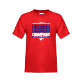 Youth Red T Shirt-2017 AAC Regular Season Champions Repeating - Mens Basketball