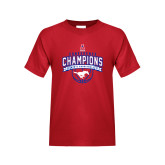 Youth Red T Shirt-2017 AAC Conference Champions - Mens Basketball Arched Banner