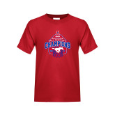 Youth Red T Shirt-2017 AAC Conference Champions - Mens Basketball Arched Net