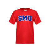 Youth Red T Shirt-Block SMU