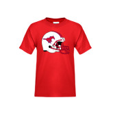 Youth Red T Shirt-SMU Football Helmet