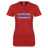 Next Level Ladies SoftStyle Junior Fitted Red Tee-2017 Mens Soccer Champs