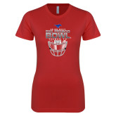 Next Level Ladies SoftStyle Junior Fitted Red Tee-2017 Frisco Bowl - Football