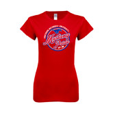 Next Level Ladies SoftStyle Junior Fitted Red Tee-Mustang Pride