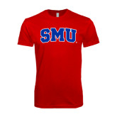 SoftStyle Red T Shirt-Block SMU