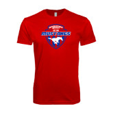 SoftStyle Red T Shirt-Mustangs in Shield