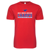 Next Level SoftStyle Red T Shirt-2017 Mens Soccer Champs