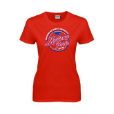 Ladies Red T Shirt-Mustang Pride