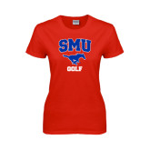 Ladies Red T Shirt-Golf