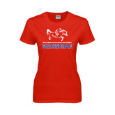 Ladies Red T Shirt-Equestrian Design