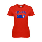 Ladies Red T Shirt-Tee Off Design