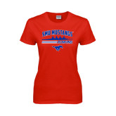Ladies Red T Shirt-Rowing Profile Design