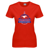 Ladies Red T Shirt-2017 AAC Conference Champions - Mens Basketball Banners