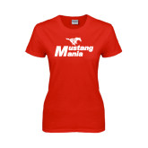 Ladies Red T Shirt-Mustang Mania