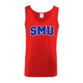 Red Tank Top-Block SMU