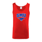 Red Tank Top-SMU w/Mustang