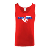 Red Tank Top-#PonyUpTempo Flat