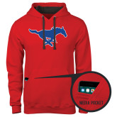 Contemporary Sofspun Red Hoodie-Official Outlined Logo