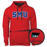 Contemporary Sofspun Red Hoodie-Block SMU