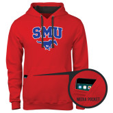 Contemporary Sofspun Red Hoodie-SMU w/Mustang