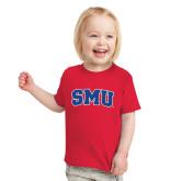 Toddler Red T Shirt-Block SMU