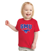 Toddler Red T Shirt-SMU w/Mustang