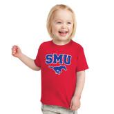 Toddler Red T Shirt-SMU w/Mustang