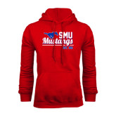 Red Fleece Hoodie-Stacked SMU Mustangs Design