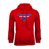 Red Fleece Hood-Stacked Athletic Mustangs Design