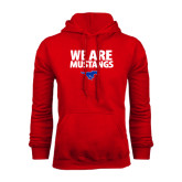 Red Fleece Hoodie-We Are Mustangs
