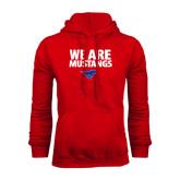 Red Fleece Hoodie-We Are Mustangs