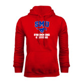 Red Fleece Hoodie-Swimming and Diving