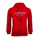 Red Fleece Hoodie-Mustangs in Football