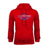 Red Fleece Hood-Mustangs in Football